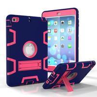 Full hybridní odolný obal na iPad mini 3 / iPad mini 2 / iPad mini - tmavěmodrý/rose