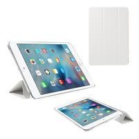 Foldy polohovatelné pouzdro se skládací klopou na iPad mini 3, iPad mini 2, iPad mini - bílé