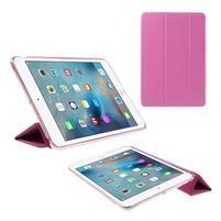 Foldy polohovatelné pouzdro se skládací klopou na iPad mini 3, iPad mini 2, iPad mini - rose