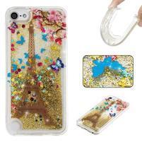 Poury přesýpací gelový obal na iPod Touch 5 a 6 - Eiffelova věž