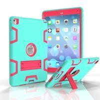 Stand hybridní odolný obal na iPad Pro 9.7 - cyan/rose