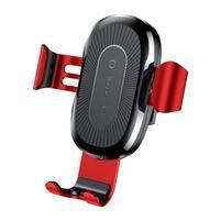 GRcar autonabíječka pro bezdrátové nabíjení iPhone - červená