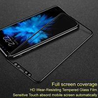 IMK celoplošné tvrzené sklo na iPhone X - černý rám
