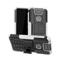 Kick odolný hybridní kryt na mobil Asus Zenfone 6 ZS630KL - bílý