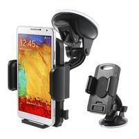 """Univerzální 360 otočný držák do auta na sklo pro mobil s rozměry 4.3"""" - 7.8"""" - černý"""