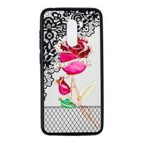 Lace gelový obal s plastovými zády pro Xiaomi Pocophone F1 - růže