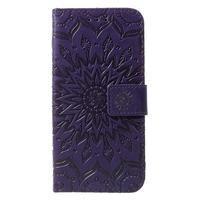 Mandala PU kožené peněženkové pouzdro pro Samsung Galaxy S10 - fialové