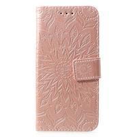 Mandala PU kožené peněženkové pouzdro pro Samsung Galaxy S10 - růžovozlaté