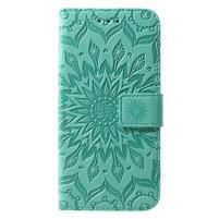 Mandala PU kožené peněženkové pouzdro pro Samsung Galaxy S10 - zelené