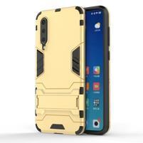 Kickstand odolný hybridní obal na Xiaomi Mi 9 SE - zlatý