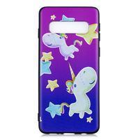 Printy gelový obal na mobil Samsung Galaxy S10 - jednorožec