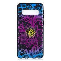 Printy gelový obal na mobil Samsung Galaxy S10 - krajková květina