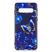 Printy gelový obal na mobil Samsung Galaxy S10 - modří motýli