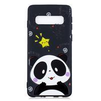 Printy gelový obal na mobil Samsung Galaxy S10 - panda