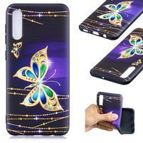 Patt gelový obal na Samsung Galaxy A50 - diamantový motýl