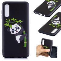 Patt gelový obal na Samsung Galaxy A50 - panda na bambusu