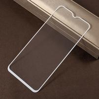 Silk celoplošné tvrzené sklo na mobil Samsung Galaxy M20 - bílý lem