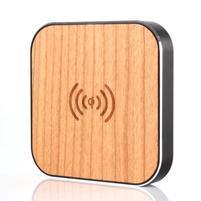 Wood bezdrátová nabíječka pro mobilní zařízení - černý lem