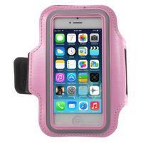 BaseRunning pouzdro na ruku pro telefony do 125*60 mm - růžové