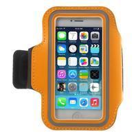 BaseRunning pouzdro na ruku pro telefony do 125*60 mm - oranžové