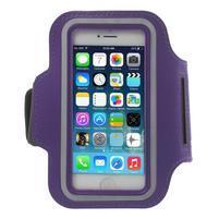 BaseRunning pouzdro na ruku pro telefony do 125*60 mm - fialové