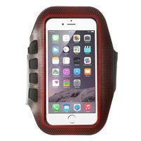 FX7 sportovní pouzdro na ruku pro telefony do 145*80 mm - červené