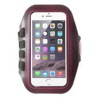 FX7 sportovní pouzdro na ruku pro telefony do 145*80 mm - rose