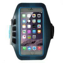 QX7 fitness sportovní pouzdro na ruku pro telefony do 160*80 mm - modré