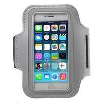 BaseRunning pouzdro na ruku pro telefony do 125*60 mm - světlešedé