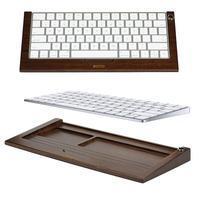 Woods bezdrátová klávesnice pro mobily a tablety - tmavé dřevo
