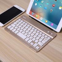 B7-9 bluetooth bezdrátová klávesnice pro tablety a mobily - zlatá