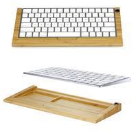 Woods bezdrátová klávesnice pro mobily a tablety - světlé dřevo