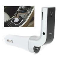 FM bluetooth handsfree s přehrávačem a nabíjením do auta - stříbrný