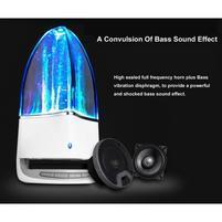 WatterBass bluetooth bezdrátový reproduktor s LED tančící vodou - šedý