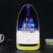 WatterBass bluetooth bezdrátový reproduktor s LED tančící vodou - žlutozelený