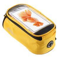 Prostorná brašna na kolo pro mobilní telefony do rozměru 158,1 x 78 x 7,1 mm - žlutá