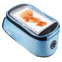 Prostorná brašna na kolo pro mobilní telefony do rozměru 158,1 x 78 x 7,1 mm - modrá