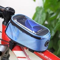 Brašna na kolo s úložným prostorem pro mobily do rozměru 138,3 x 67,1 × 7,1 mm - modrá