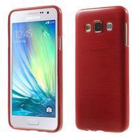 Broušené pouzdro na Samsung Galaxy A3 - červená