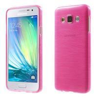 Broušené pouzdro na Samsung Galaxy A3 - rose