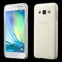 Broušené pouzdro na Samsung Galaxy A3 - bílá