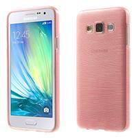 Broušené pouzdro na Samsung Galaxy A3 - růžová