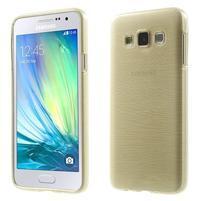 Broušené pouzdro na Samsung Galaxy A3 - zlatá