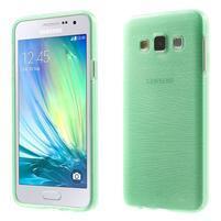 Broušené pouzdro na Samsung Galaxy A3 - světle zelená