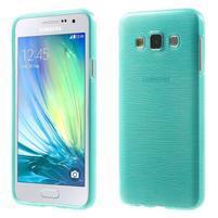 Broušené pouzdro na Samsung Galaxy A3 - tyrkysová