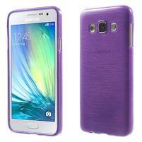 Broušené pouzdro na Samsung Galaxy A3 - fialová