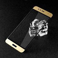GTX celoploné fixační tvrzené sklo na Asus Zenfone 3 Max ZC520TL - zlatý lem