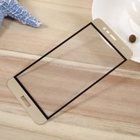 F9X fixační celoplošné tvrzené sklo na Asus Zenfone 3 Max ZC520TL - zlatý lem