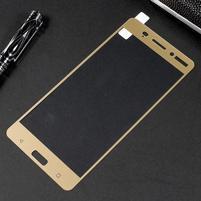 Celoplošné fixační tvrzené sklo na Nokia 6 - zlatý lem