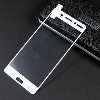 Celoplošné fixační tvrzené sklo na Nokia 6 - bílý lem